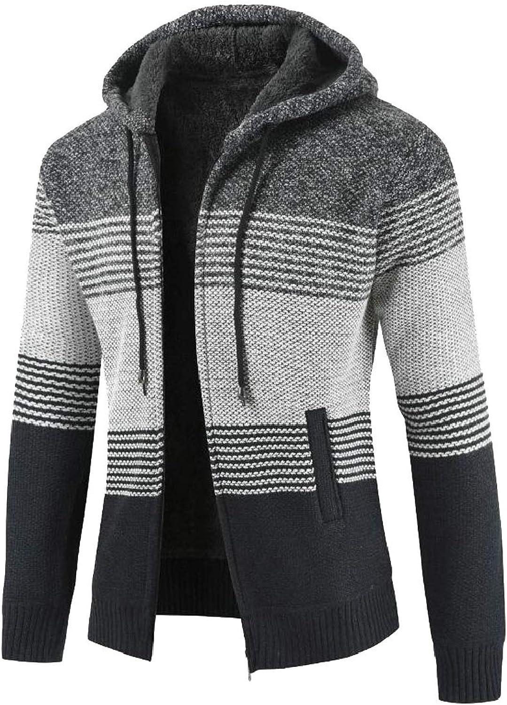 Esast Men Winter Warm Fleece Lined Lined Lined Zip Up