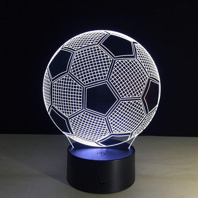 YMWLKE Lichter Nachtlicht Fußball Kreative Kristall Kristall Kristall 3D Tischlampe, Touch Nachtlicht Originalität by (Farbe   A) B07L48R68J   Good Design  dbe84c