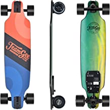 """Teamgee H8 31"""" Electric Skateboard, 15 MPH Top Speed, 480W Motor, 8 Miles Range, 11.6 Lbs, 10 Layers Maple Longboard with Wireless Remote Control"""