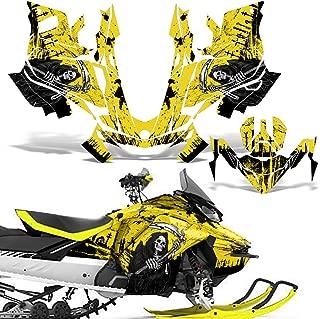 Ski-Doo Renegade 850 Summit G4 2017 Decal Graphic Kit Sled Snowmobile Wrap REAPER YELLOW
