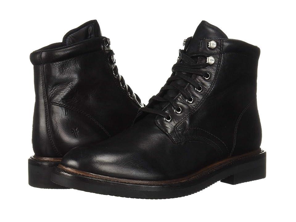 Frye Gordon Lace-Up (Black Hammered Dip-Dye Leather) Men