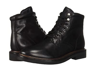Frye Gordon Lace-Up (Black Hammered Dip-Dye Leather) Men