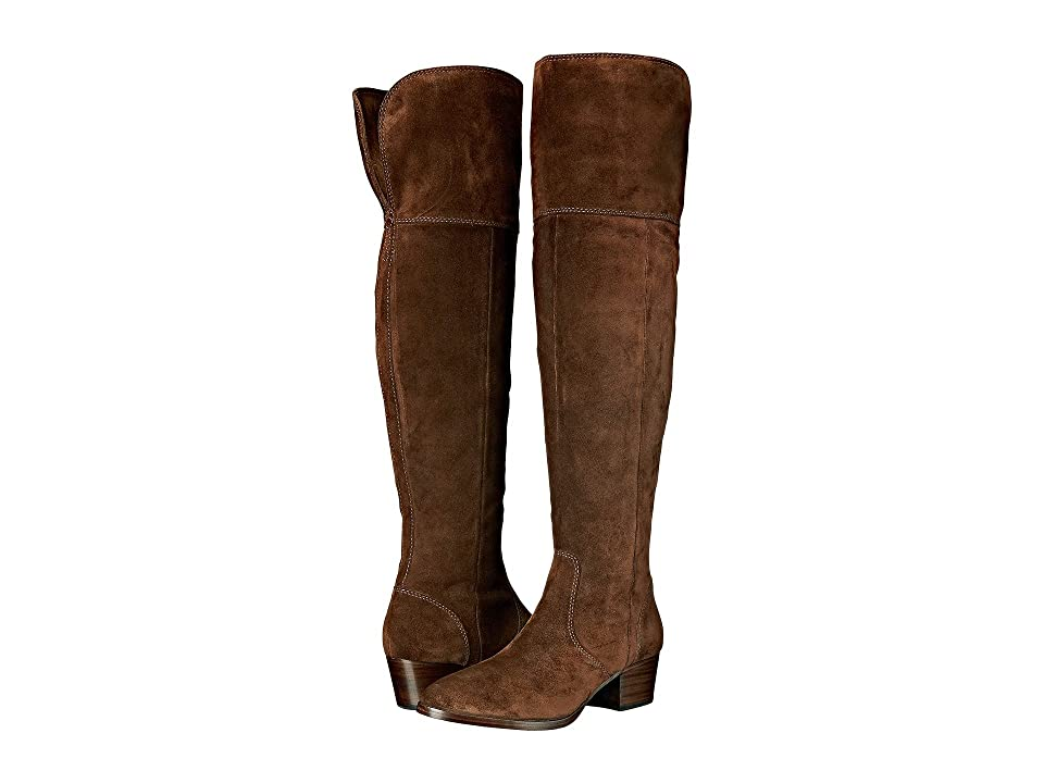 Frye Clara Over-The-Knee (Brown Oiled Suede) Women