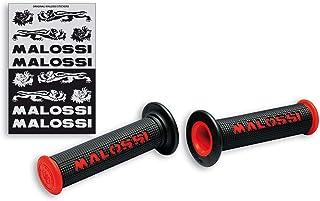 6914059.Y0 60651 : Par pu/ños negros Malossi CUP con logo Amarillo MALOSSI abierto