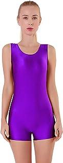 NEW Purple//Magenta Sleeveless Halter Neck Unitard Jumpsuit Dance Costume