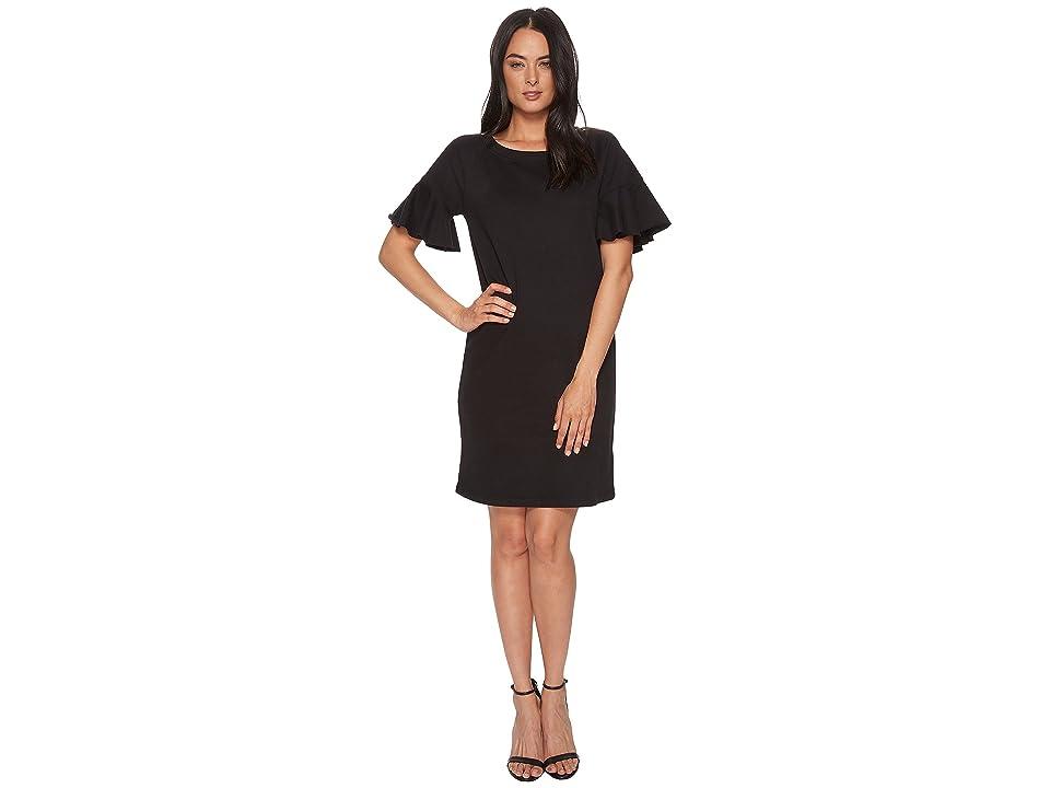 LAUREN Ralph Lauren French Terry T-Shirt Dress (Polo Black) Women