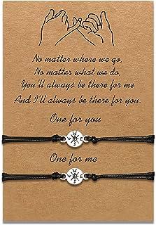 Braccialetti per figlie per madre Set di braccialetti in corda coordinata Regalo da mamma a figlia Relazione Gioielli fatt...