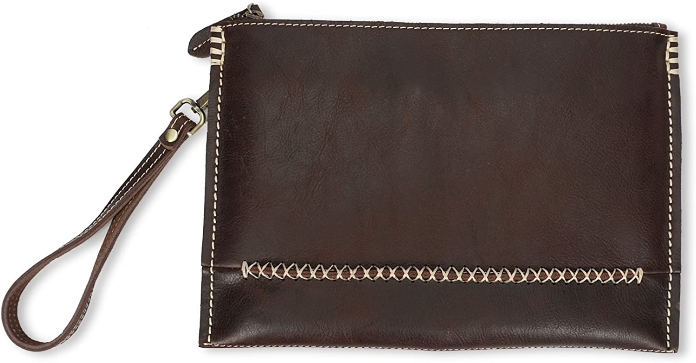 YQXR Geldbörsen und Clips, Herrenbrieftasche Retro Mode schlanke Ordner Pack Pack Pack handgefertigte Leder Clutch Bag B07NKS6W33 6a351d