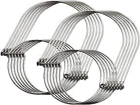 Anpatio 12pcs Mason Jar Hangers Hooks Stainless Steel Wire Handles Hanging Mason Ball Canning Jars Solar Light for Wedding Garden Porch Yard Patio Decoration Silver
