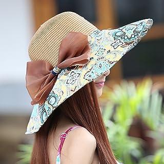 LPKH Sun Hat Summer Beach Hat, Foldable Wide Brim Gardening Hiking Hat Neck Protection UV Protection Sun Visor Sun Protection Cap hat (Color : Brown)