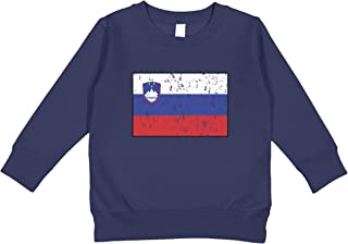 Amdesco Slovenia Flag Slovene Toddler Sweatshirt