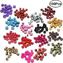 ROSENICE Colorful Sealing Wax Sticks Beads Stamp Maker for Wax Seal Stamp Kit 100pcs