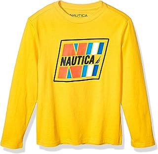 Nautica Long Sleeve Graphic Print tee Camisa para Niños