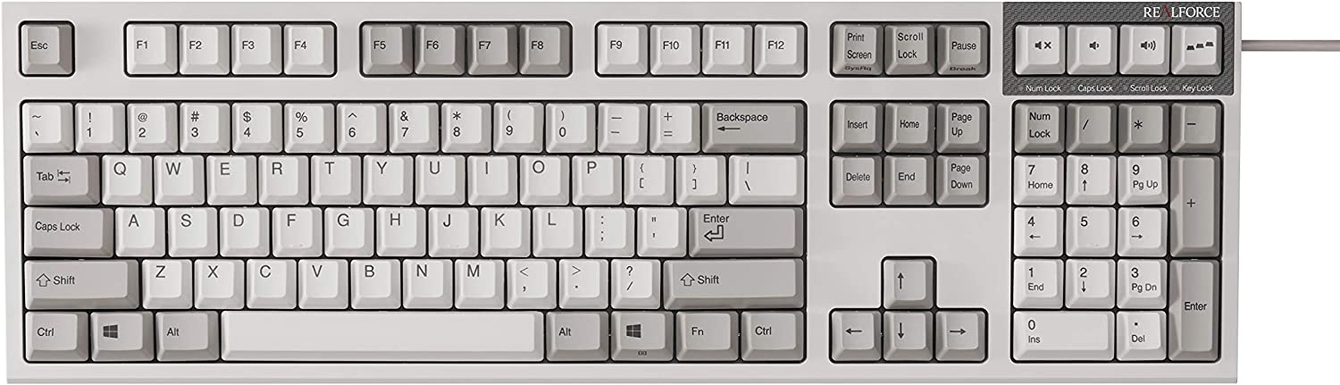 Realforce R2 PFU Limited Edition Ivory Topre Keyboard