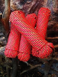 Rote Festmacherleine,Bootstau,Seil,Schnur,Tauziehen,Polypropylen Seil, Polypropylenseil 6 mm