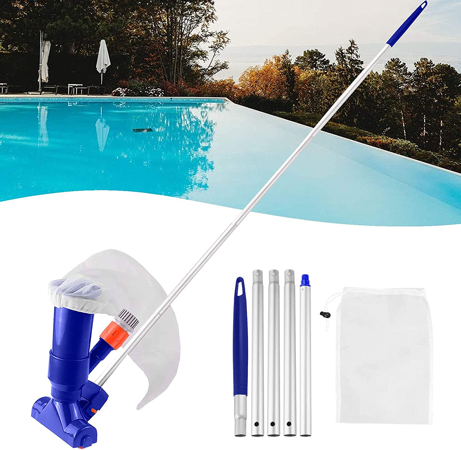 Manufacturer direct delivery PiAEK Pool Cleaning Kit Vacuum Portable Swimming Cleaner Po Some reservation