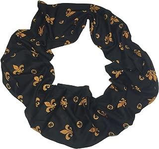 Fleur De Lis Soft Knit Infinity Tube Scarf