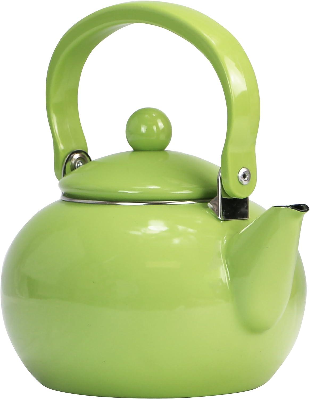 Reston Lloyd Enamel Teakettle Lime Quart 2 Finally popular Max 56% OFF brand Non-Whistling