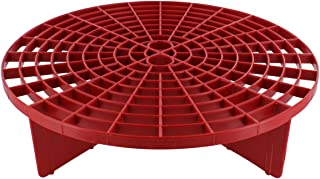 ABN Grit Guard Insert Two-Bucket Car Wash Tool Removes Dirt & Debris from Wash Mitt - Red