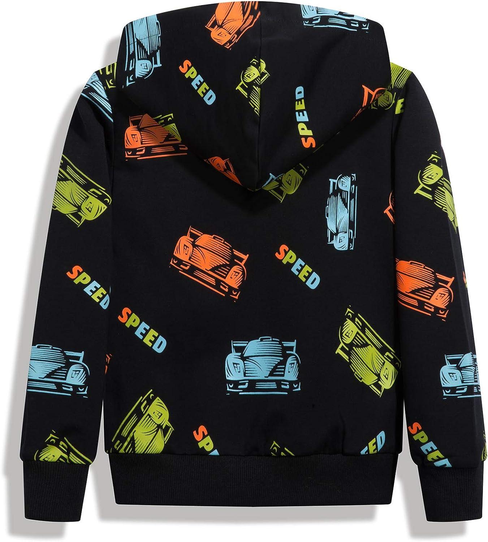 HZXVic Kids Dinosaur Hoodies for Boys Toddler Sweatshirt Casual Long Sleeve Pullover Tops