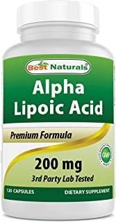 Best Naturals Alpha Lipoic Acid 200 Mg 120 Capsules
