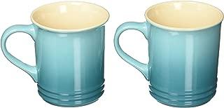 Le Creuset of America Stoneware Set of 2 Mugs, 12-Ounce, Caribbean