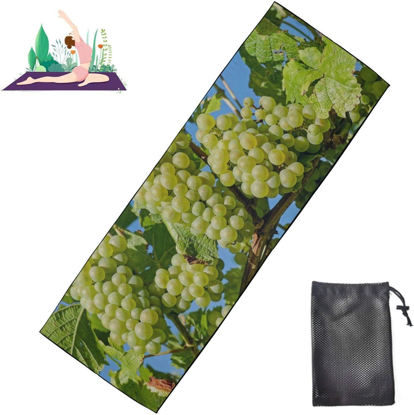 Max 64% OFF Huqalh Yoga Hot Towel Grapes Winegrowing Grapevine Fruit Yo Outlet sale feature Vine