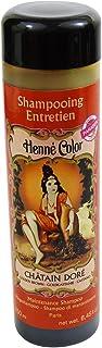 SITARAMA - Champú Henna Castaño - Restaura el color en cabellos cobrizos - Limpia con suavidad - Para un cabello saludable - Nickel testado y vegano
