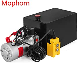 Mophorn Single Acting Hydraulic Pump Dump Trailer Steel Hydraulic Power Unit (Steel, 15 Quart/Single Acting)