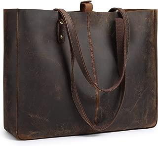 Genuine Leather Shoulder Tote Bag for Women Large Handbag Work Purse