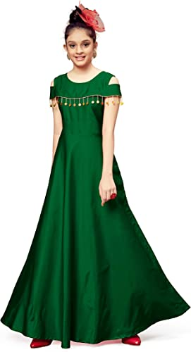 Girl s Fit And Flare Maxi Dress Girl Sequence dress Green