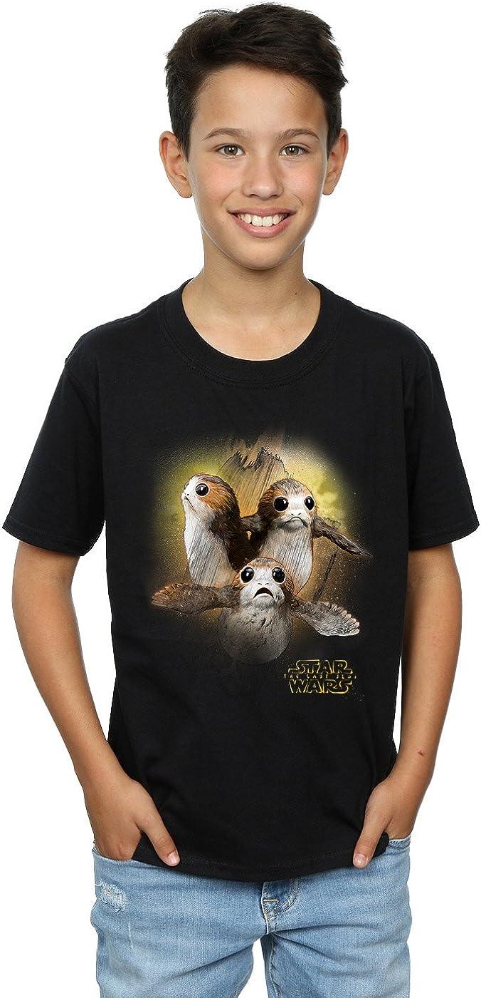 STAR WARS Boys The Last Jedi Porgs Brushed T-Shirt 12-13 Years Black