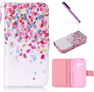 3f750458750 EMAXELERS Funda Samsung S3 Mini Premium PU Cuero Cartera para Tarjetas y  Cierre Magnetico Soporte Plegable