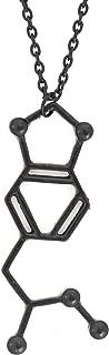 Magic Metal MDMA Molecule Necklace Black Tone Ecstacy Molecular Structure Molly Pendant NT08 Fashion Jewelry