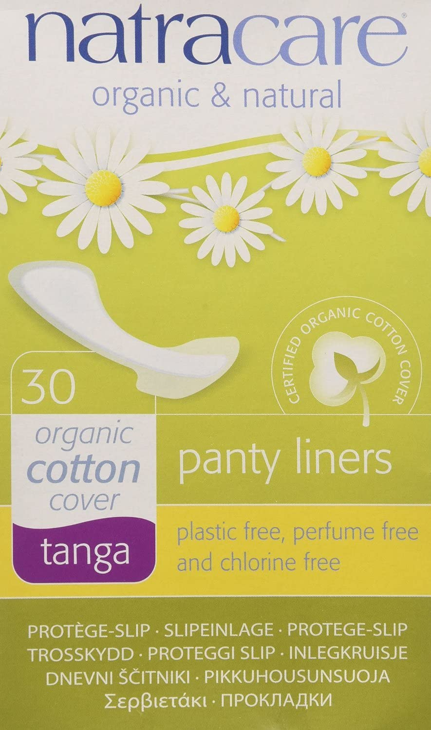 Natracare Natural Thong Style Challenge the lowest price of Japan ☆ Panty Liners 16 - 30 Pack Max 76% OFF of