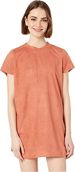 Remember Me Suede Tee Dress