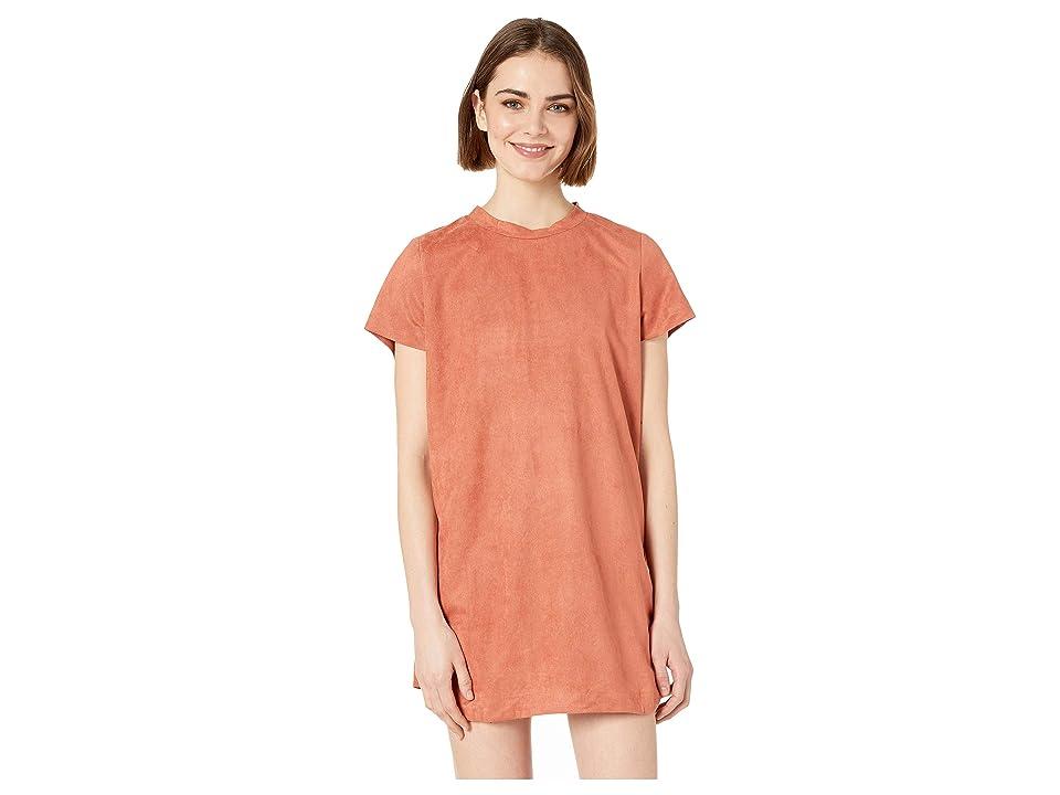 MINKPINK Remember Me Suede Tee Dress (Masala) Women