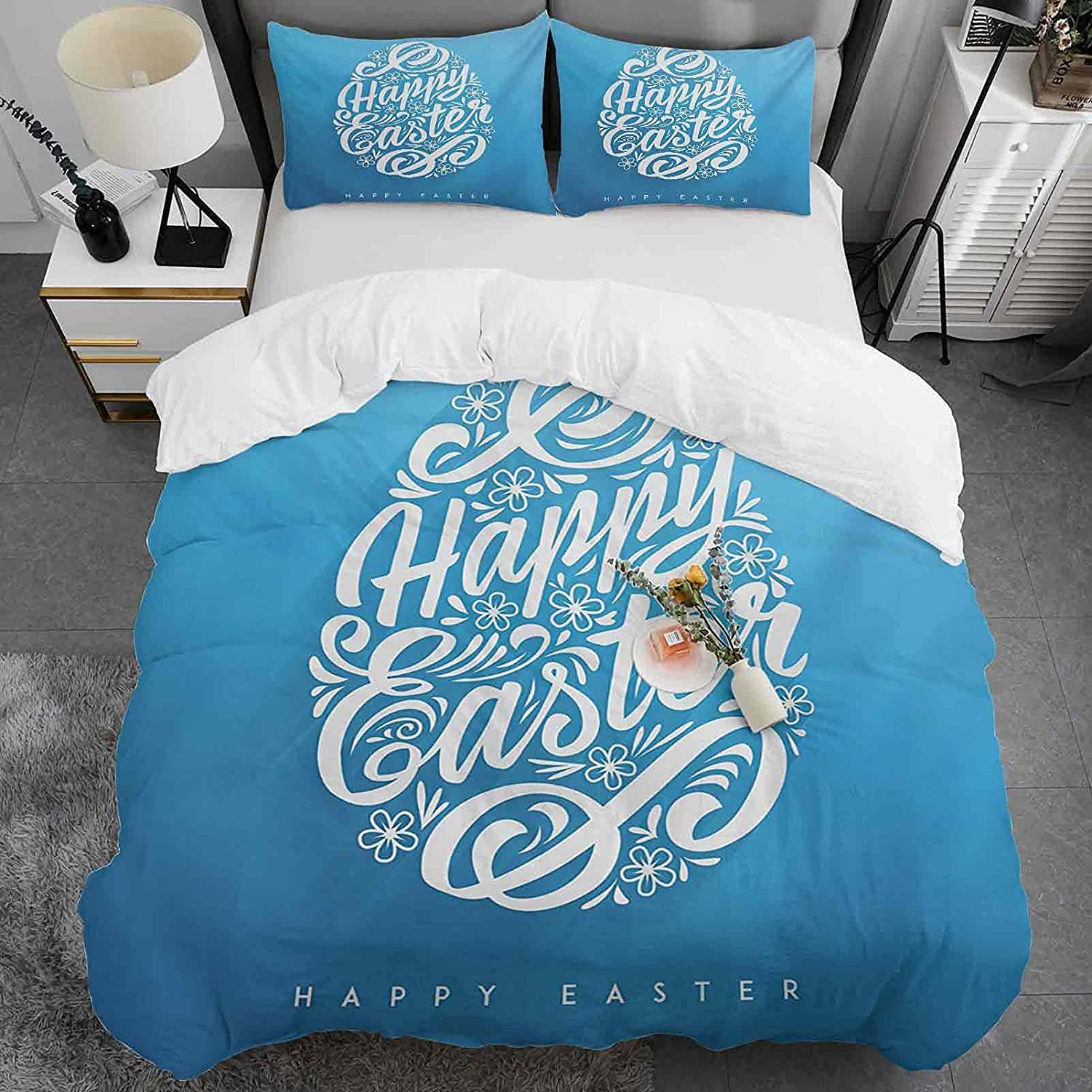 Kids Online limited product Duvet Indefinitely Cover King Size Washed Microfibe 100% Pattern Easter