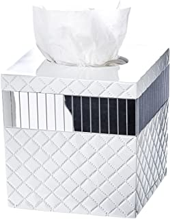 Creative Scents Quilted Mirror Tissue Box Cover Square - (6