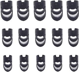 FarBoat Instrument Accessories L&M&S -Size Plastic Finger Picks Finger Thumb Protectors for Guitar Bass Ukulele(Blcak), Pack of 15