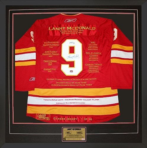 Generic Lanny McDonald voiturerière Jersey   1de 199 autographe Calgary Flames