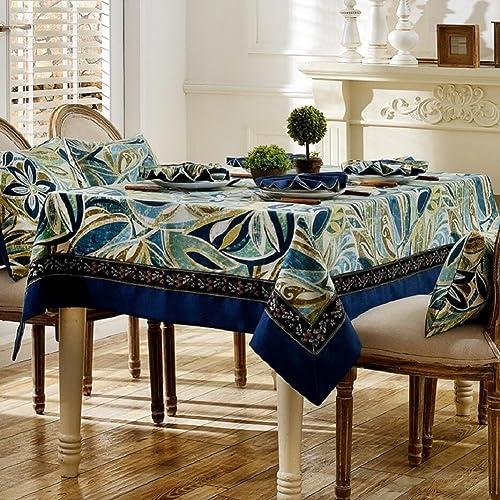 ZXY Amerikanischen Stil pastoralen Stil Tischdecke, Baumwollstoff Material, rechteckige Hause Dekoration Staub Abdeckung Tuch, tragen, Leicht zu reinigen, Anti-Fouling,A,140  220cm