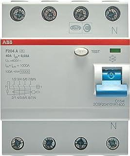 ABB F204A-40/0,03 Jordfelsbrytare, 4-polig, Vit