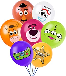 Toy Inspired Story Party Supplies, Birthday Party Balloons for Toy Theme Party, Includes 7 Styles Printed Ideal for Kids P...