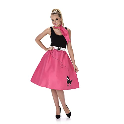 Poodle Skirt Ladies Fancy Dress 50s 60s Rock and Roll Womens Adults Costume New (Medium UK 12-14)
