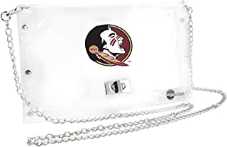 Littlearth Florida State Seminoles  NCAA Envelope Purse, Clear  - 10 x 0.5 x 6.5 - Inch