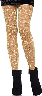 LEG AVENUE LEG AVENUE 7130 - Lurex-Strumpfhose, Einheitsgröße, Gold