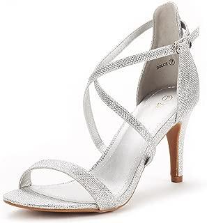 DREAM PAIRS Women's Dolce Fashion Stilettos Open Toe Pump Heel Sandals