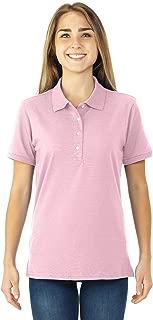 pink striped polo shirt womens