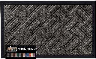 Best Gorilla Grip Original Durable Natural Rubber Door Mat, 47x35, Heavy Duty Doormat for Indoor Outdoor, Waterproof, Easy Clean, Low-Profile Rug Mats for Entry, Patio, High Traffic Areas, Gray Diamond Reviews